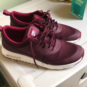 Maroon and cherry Nike Airmax Thea's